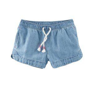 OshKosh Pull-On Crosshatch Denim Shorts